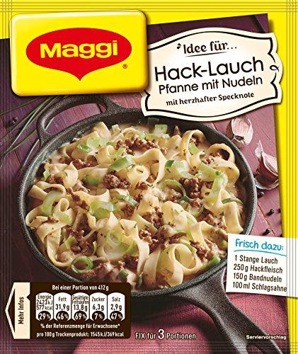 Maggi fix & frisch Hack-Lauch Pfanne mit Nudeln, 42g Beutel, ergibt 3 Portionen