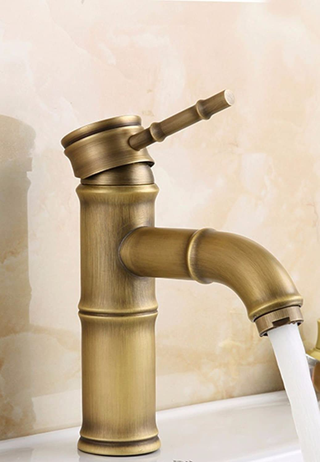 AWXJX European style retro style copper Hot and cold Single hole Wash your face Faucet