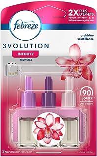Febreze Recharges 3Volution pour Diffuseur Électrique, Orchidée Scintillante, Lot de 3