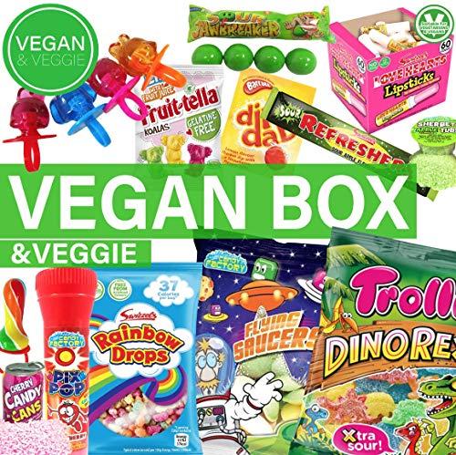 Vegan & Veggie Süßigkeiten Box aus aller Welt Kennenlernpaket Candy Box