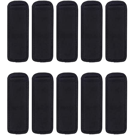 Sublimation Blanks Black Sleeves Popsicle Holders Bags Neoprene Fabric 10 Pack