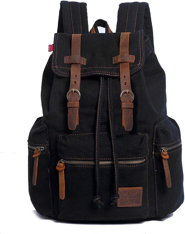 SMGXQ Leinwand-Tasche Retro-Mnner-Tasche Rucksack groe Kapazitt Studententasche groe Kapazitt