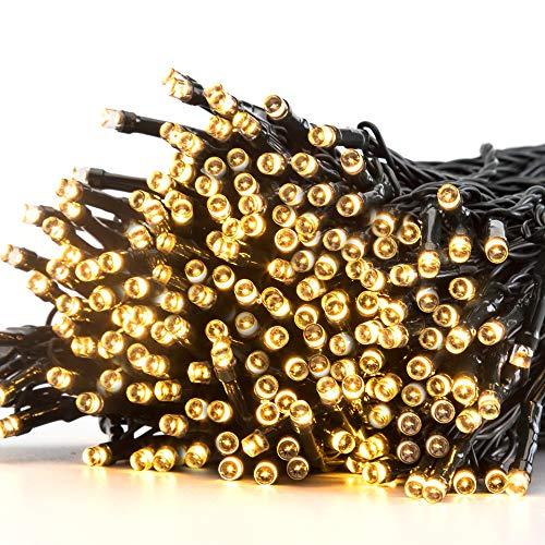 Avoalre Luces Navidad Exterior 40M/300 LED, Guirnalda Luces Exterior con Bateria 8 Modos Función de Memoria Impermeable IP44 Navidad Decoración para Exterior Interior Fiesta Jardín - Blanco Cálido
