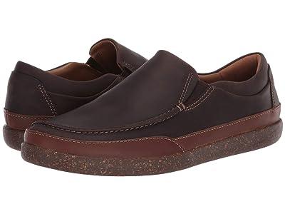 Clarks Un Lisbon Twin (Brown Oily Leather) Men