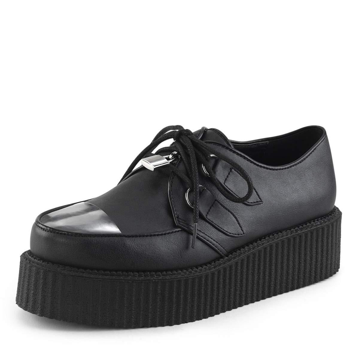 Demonia Mens Oxford Platform Shoes V