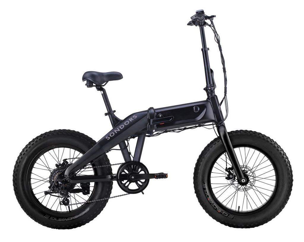 SONDORS Fold X Premium Bicicleta eléctrica plegable, 20 mph, 7 velocidades, acelerador de pulgar, motor de 500 vatios, batería de iones de litio, asistencia de pedal eléctrica: Amazon.es: Deportes y aire libre