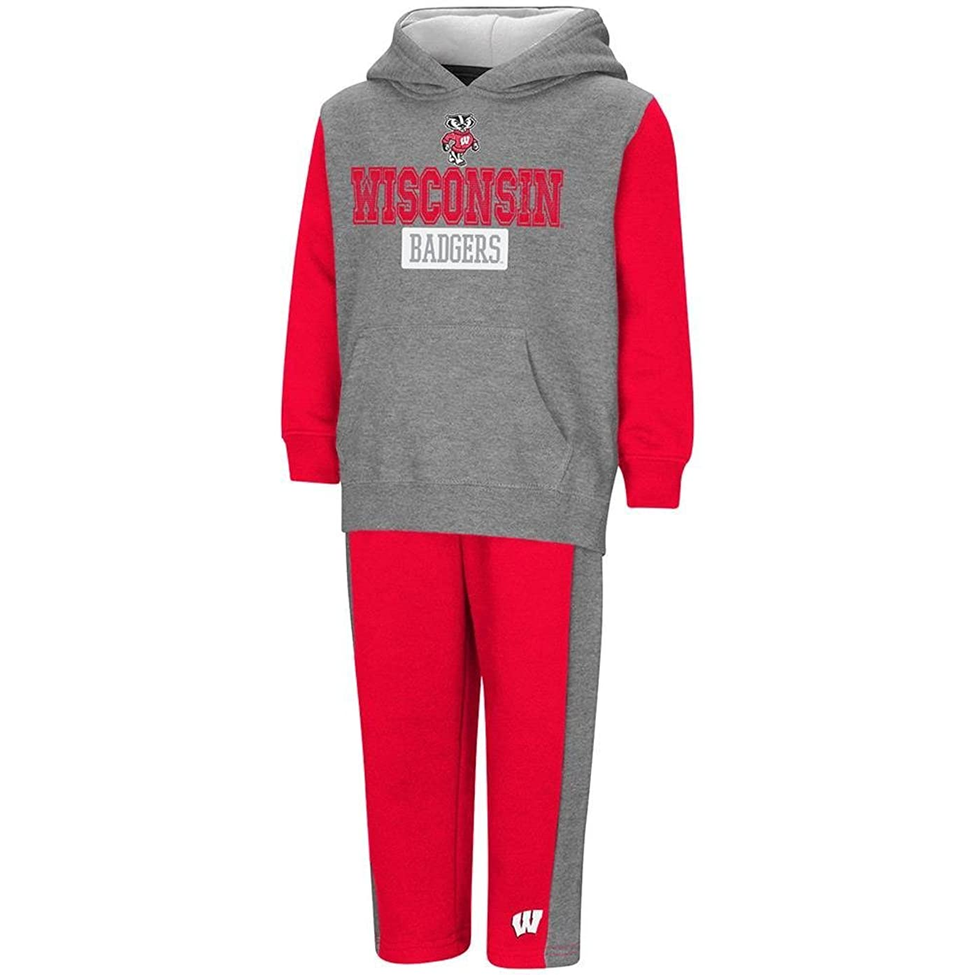 Colosseum Toddler Wisconsin Badgers Pull-Over Hoodie and Sweatpants Set
