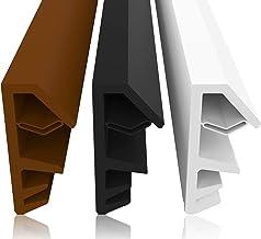Vensterafdichting bruin 25m - 5mm groefbreedte / 12mm vouw van TPE hoogwaardige rubberen afdichting houten venster afdicht...