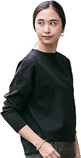 [ワークノットワーク] tシャツ ミラノリブボートネックプルオーバー レディース