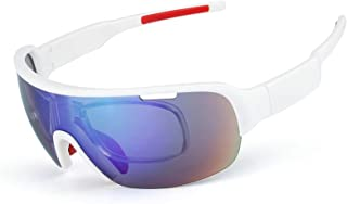 Aooaz Half Frame 5 Piece Sports Sand Proof Polarize Men And Women Fashion Mulch Function Riding Glasses