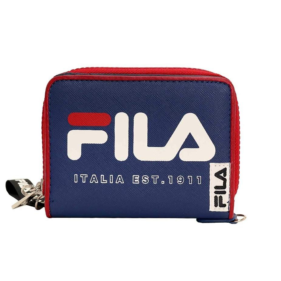 タイヤお母さん取り替える[フィラ] 財布 レディース 二つ折り ラウンドファスナー バイカラー