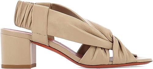 Santoni Damen WHTH57900HA2SPPTP14 Beige Leder Sandalen