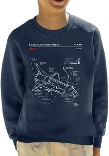 Nasa Space Shuttle Blueprint Kid's Sweatshirt
