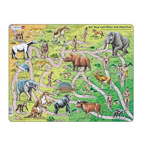 Larsen puzzel - De weg van aap naar mens - HL39: Larsen puzzels