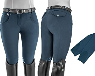 Umbria Equitazione Pantaloni Uomo Cotone Elasticizzato con pences