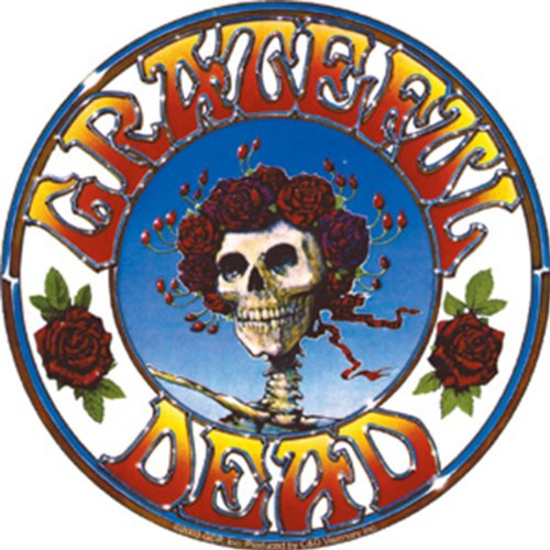 C&D Visionary Licenses Products Grateful Dead Skull and Roses Sticker