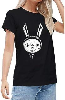 BOBIBIBICC Women's Johnny The Homicidal Maniac Jthm Short Sleeved T Shirts Top