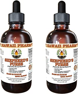 Shepherd's Purse Liquid Extract, Organic Shepherd's Purse (Capsella Bursa-Pastoris) Tincture, Herbal Supplement, Hawaii Ph...