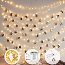 10m 100 LED 8 Modes Battery and USB Operated Photo Clip Fairy String Light for Hanging Pictures, Cards, Memos and Artwork ...