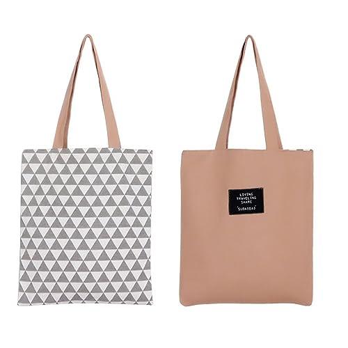 Flowertree Women s Graphic Pattern Handmade Reversible Canvas Tote Bag 45ea79d45fb4d