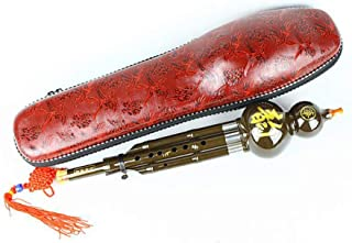 Chinese Traditional Instrument Hulusi Cucurbit Flute Bottle Gourd Silk C-Key Resin Material with Chinese Knot Carry Case for Beginners Musical Gift Children Gift