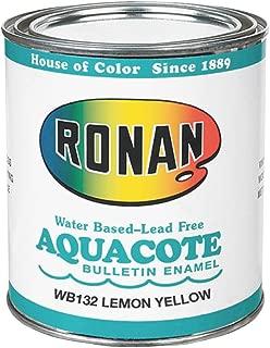 Ronan Aquacote Enamel 8 Oz Lemon Yellow