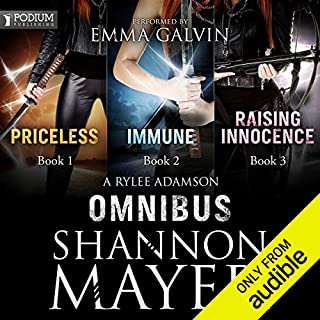 A Rylee Adamson Omnibus     Books 1-3              By:                                                                                                                                 Shannon Mayer                               Narrated by:                                                                                                                                 Emma Galvin                      Length: 19 hrs and 28 mins     93 ratings     Overall 4.5