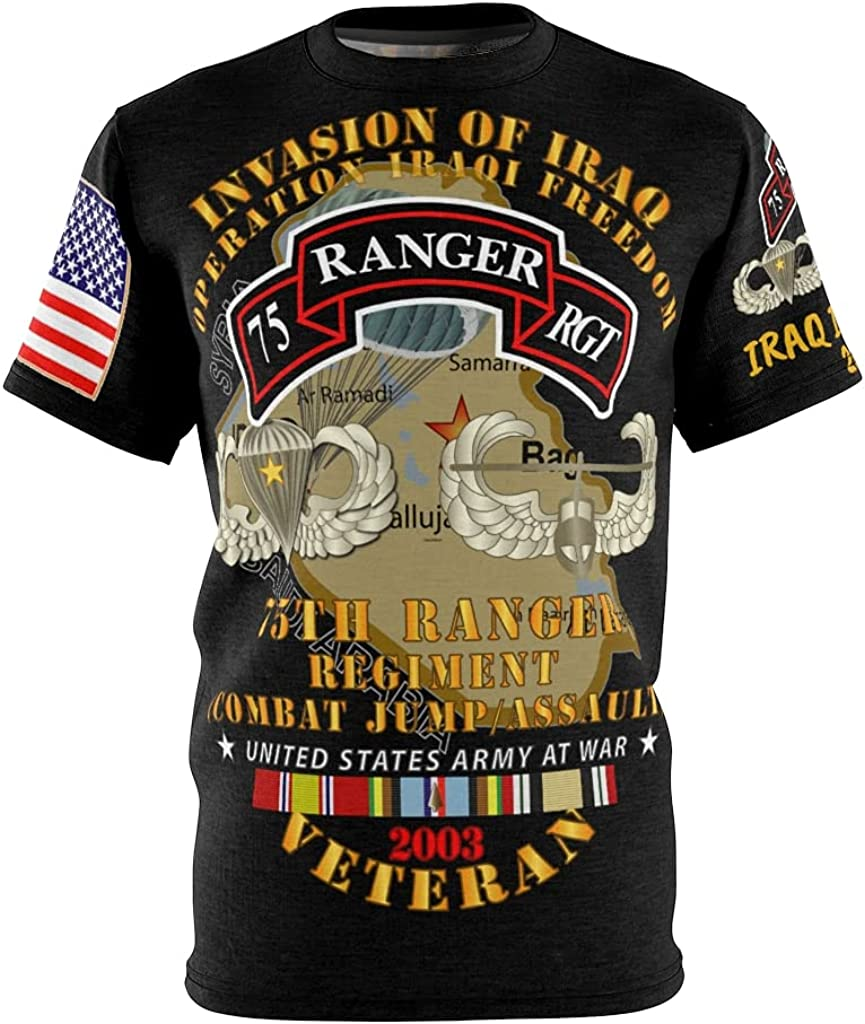 All Over It is very popular 2021 autumn and winter new Printing AOP - Army Ranger Regiment Iraq Inv 75th