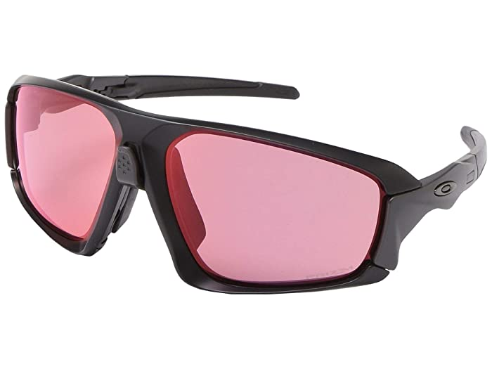 Oakley  64 mm Field Jacket (Matte Black with PRIZM Trail Torch) Fashion Sunglasses