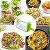 Bonsenkitchen Spiralizzatore, Spiralizer per Verdure Affettatrice di Verdure con 5 Lame, Zucchine Spaghetti Maker Zoodle Maker Creatore di Pasta Vegetariano, Affettatrice di mandolino con Contenitore #4