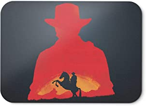 BLAK TEE Video Game Inspired Red Cowboy Redemption RDR2 Mouse Pad 18 x 22 cm in 3 Colours Black
