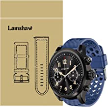 for Montblanc Summit 2 Bands, Lamshaw Silicone Replacement Wristbands Sport Strap with Metal Buckle for Montblanc Summit 2 Smartwatch (Blue)