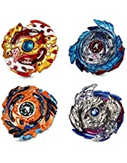 Innoo Tech 2021 Burst Battle Gyro Top Set of 4, 4D Fusion Model Metal Masters Acceleration Launcher, Speed Spinning Top, Great Kids Toy