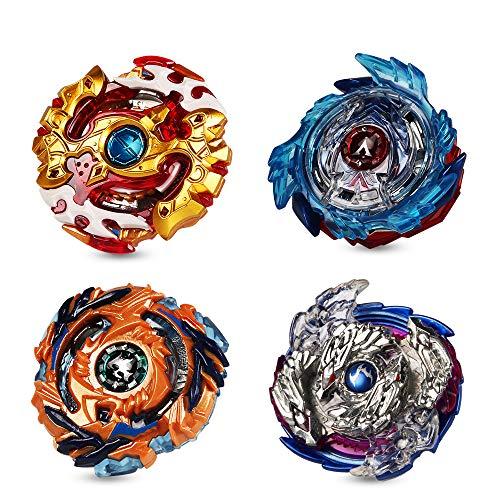 Innoo Tech 4pcs Toupie Burst Set, 4 Toupies + 2 Lanceurs pour Enfants Adulte, Toupie Gyro de Combat Métal Fusion