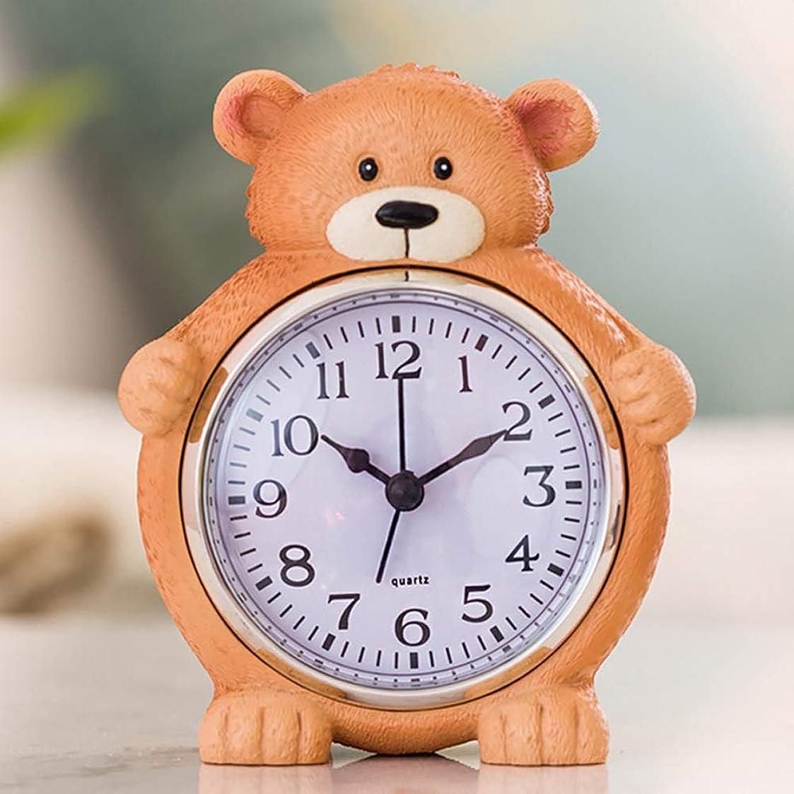フライカイトスキニー早める子供学生漫画動物の目覚まし時計ベッドサイドクロックかわいいクリエイティブデスクアラーム寝室のリビングルームのデスクトップの時計,Raccoonn