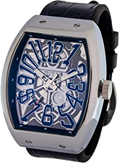 [フランク三浦] 十一号機 頑張るどモデル スケルトンウォッチ 腕時計 スケルトンネイビー