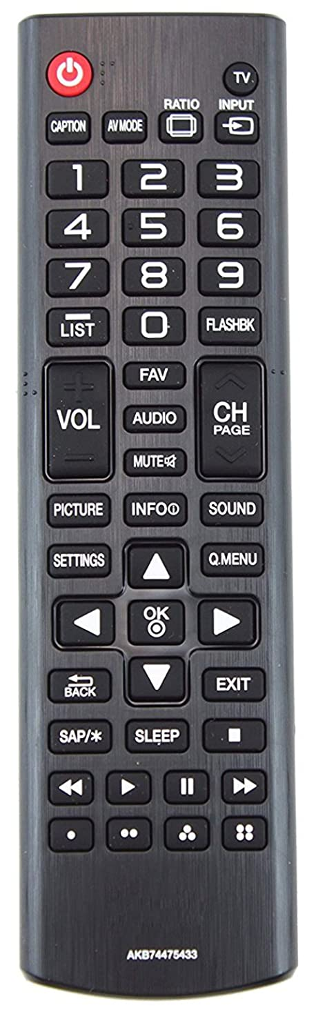 Smartby Replaced LG Electronics AKB74475433?TV Remote Control for 42LX330C, 42LX530S, 43LX310C, 49LX310C, 49LX341C, 49LX540S, 55LX341C, 55LX540S, 60LX341C, 60LX540S, 65LX341C, 65LX540S