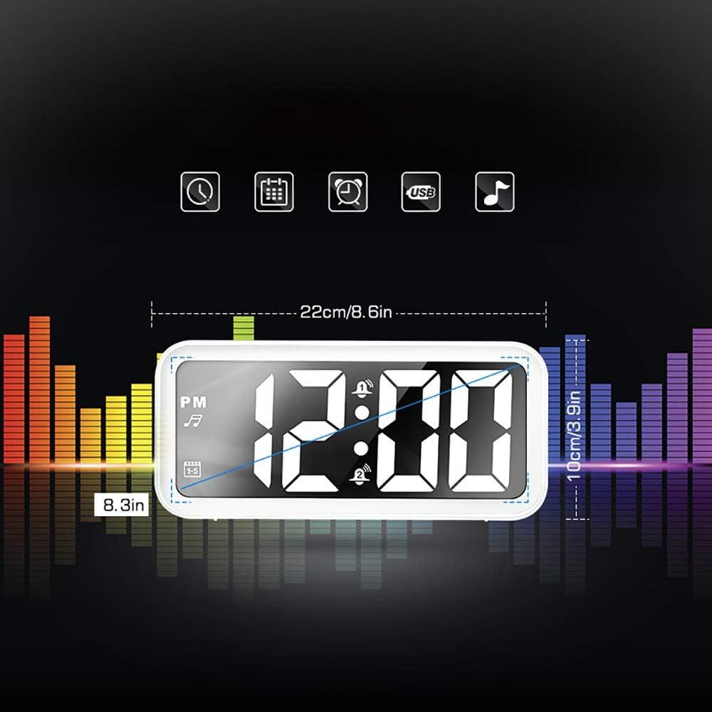 Wekker Batterij Aangedreven Wekker Voor Kinderen Woonkamer Digitale Elektronische Klok Muziekklok red letters
