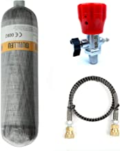 IORMAN 3L 4500psi Carbon Fiber Air Tank & Fill Station for PCP Paintball Scuba SCBA(Empty Bottle) (Cylinder with Red Valve Set)