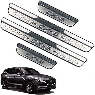 Soglia Porta Auto Esterno Batticalcagno 4 Pezzi Battitacco in Acciaio Inox per Mazda CX-5 CX5 KF 2017 2018 2019 2020 Protettore per Davanzale della Portiera per Auto