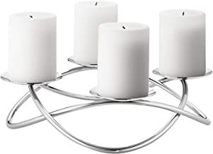Georg Jensen Season Grand Candle Holder, Mirror Polished Stainless Steel, Large