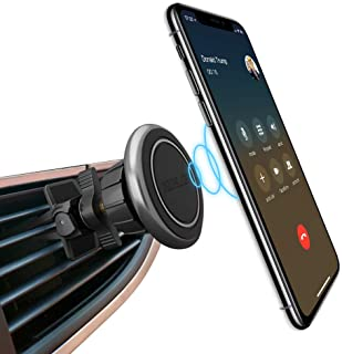 Magnetic Car Phone Mount for Air Vent, Kuelor Universal Car Cradle Mount Cell Phone Holder Stand Compatible for Apple iPhones Xs Max/XR 8 7 7 Plus 6 6s Plus Samsung Galaxy S8 S7 S6 More Smartphones