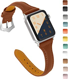 OULUCCI Compatible Apple Watch Band 42mm 44mm, Top Grain Leather Band Replacement Strap for iWatch Series 5, Series 4,Series 3,Series 2,Series 1,Sport, Edition