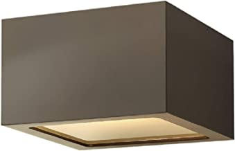 Hinkley 1765BZ Contemporary Modern One Light Outdoor Flush Mount from Kube collection in Bronze/Darkfinish,