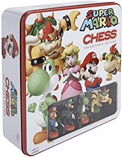 SUPER MARIO Chess Set | 32 Custom Scuplt Chesspiece Including Iconic Nintendo Characters Like Mario, Luigi, Peach, Toad, B...