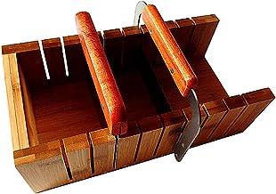 FantasyDay Multi-Function Wooden Practical Adjustable Handmade Soap Mold Loaf Cutter Mold Set + 1pcs Stainless Steel Strai...