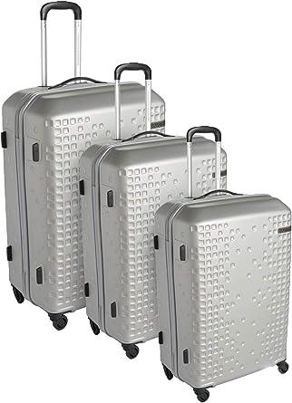 امريكيان توريستر حقائب سفر بعجلات 3 قطع , فضي , AN625004-SILVER