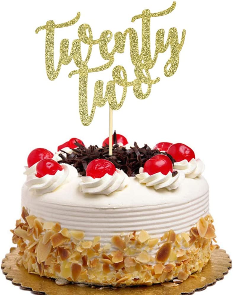 Twenty Two Cake 2021 autumn and winter San Diego Mall new Topper for Par 22nd Wedding Anniversary Birthday