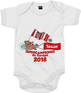 Body bebé Atlético de Madrid supercampeones Tallin 2018 Supercopa de Europa - Blanco, 12-18 meses