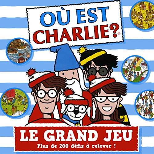 Où est Charlie : Le grand jeu – Jeu de société avec un plateau, des pions, 200 cartes défis et 20 planches à observer – À partir de 7 ans